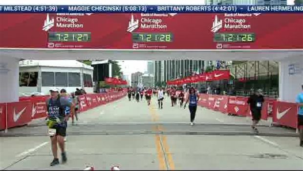 2018 Bank of America Chicago Marathon Finish: 7:21:04