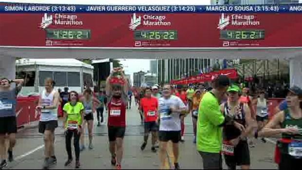 2018 Bank of America Chicago Marathon Finish: 4:23:42