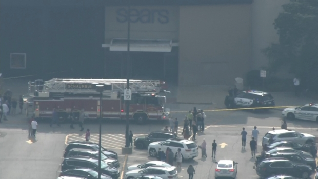 [CHI] Sky 5 Footage Shows Scene Outside Woodfield Mall