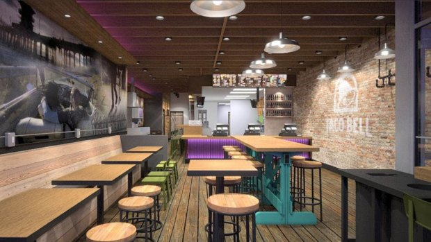 Inside the New Wicker Park Taco Bell