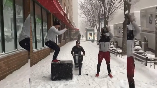 [NATL] Puppy Dogs and Kettle Bells: The Best Social Videos From the Winter Storm