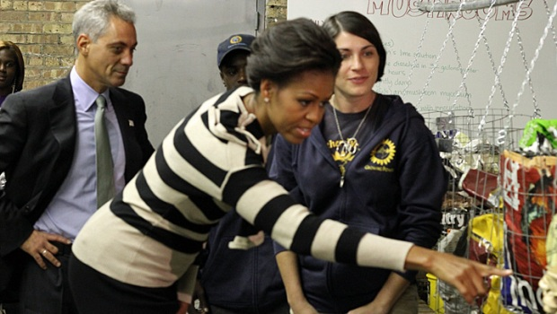 First Lady and Mayor Emanuel Tour South Side Farm