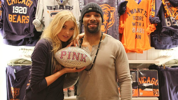 Matt Forte, Elsa Hosk Unveil Victoria's Secret's NFL PINK Line