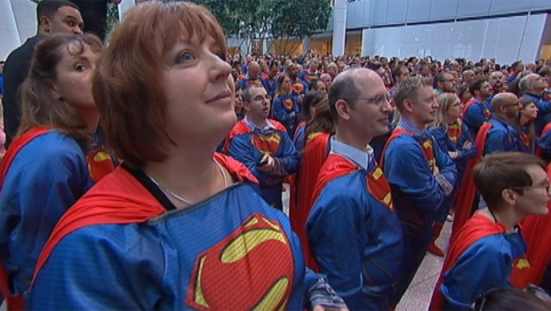 Sears Breaks World Record For Costumed Supermen