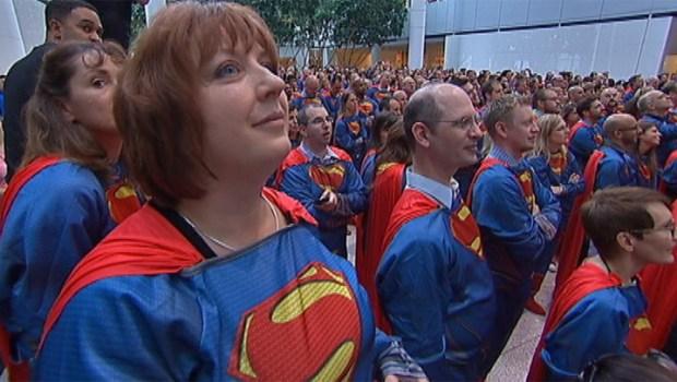 Sears Breaks World Record For Costumed Supermen