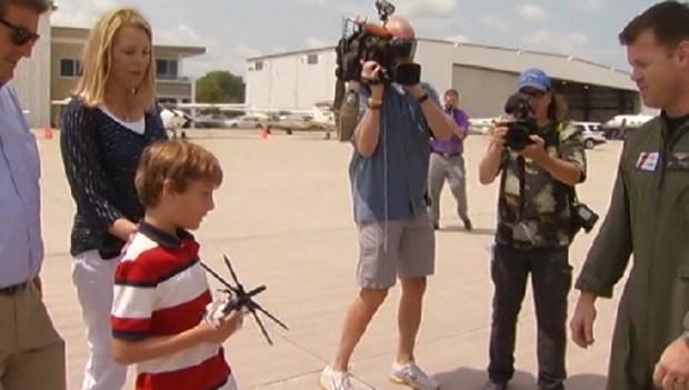 Rescued Boy Meets Coast Guard Crew