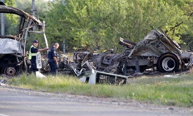 Dramatic Images: Deadly Calif. Bus Crash