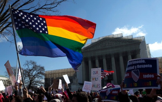 Crowds Wait Outside As Supreme Court Hears Gay Marriage Arguments