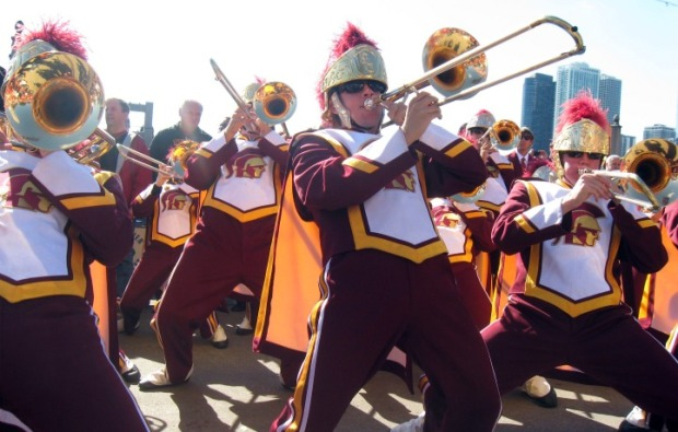 PHOTOS: USC Band Takes Over Navy Pier