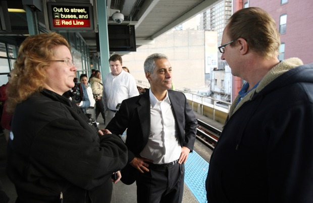 PHOTOS: Rahm Hits the Streets