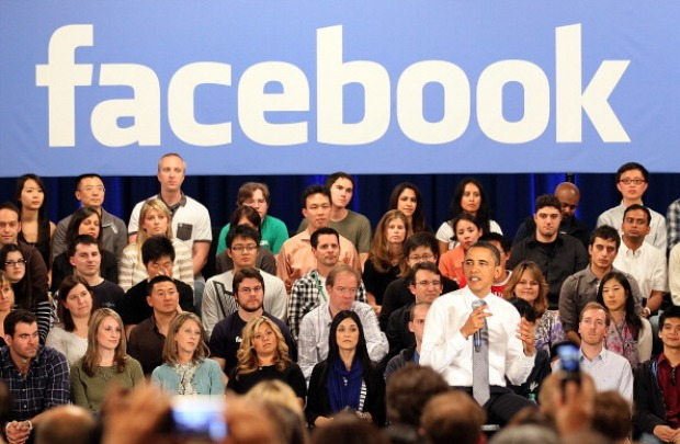 Images of Obama at Facebook