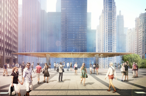 First Look: Renderings for New Apple Store on Chicago River