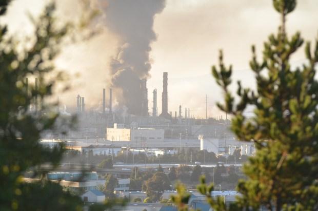 Chevron Refinery Catches Fire