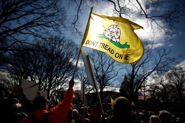 Tea Partiers Stage Rally to Kill the Bill