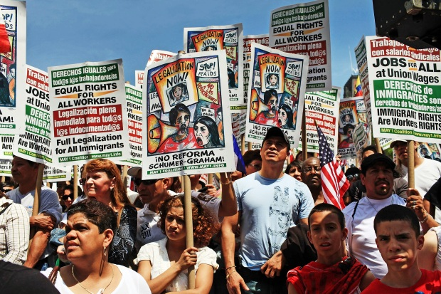 Hundreds Rally for Immigration Reform in Union Square