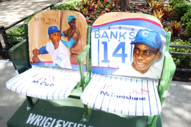 Centennial Wrigley Field Chairs Honor Cubs History on Mag Mile