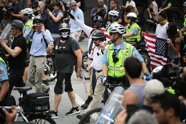 DC Unite the Right Rally Fizzles Amid Large Counterprotest