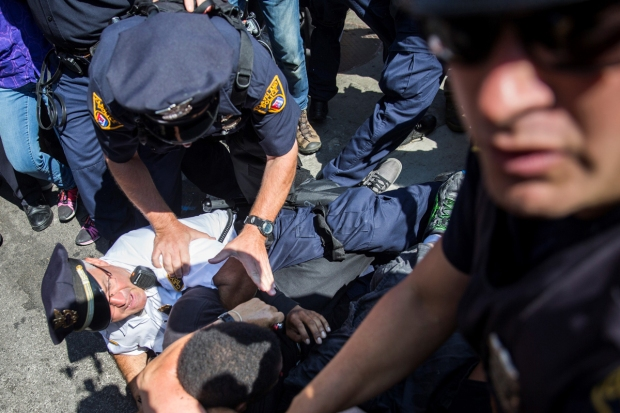 Several Arrested at Flag-Burning Protest at RNC Convention