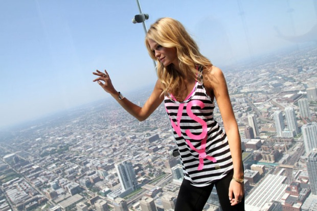 V.S. Supermodel Erin Heatherton Hits Chicago