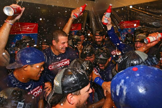 Chicago Cubs Celebrate After Clinching Division Title