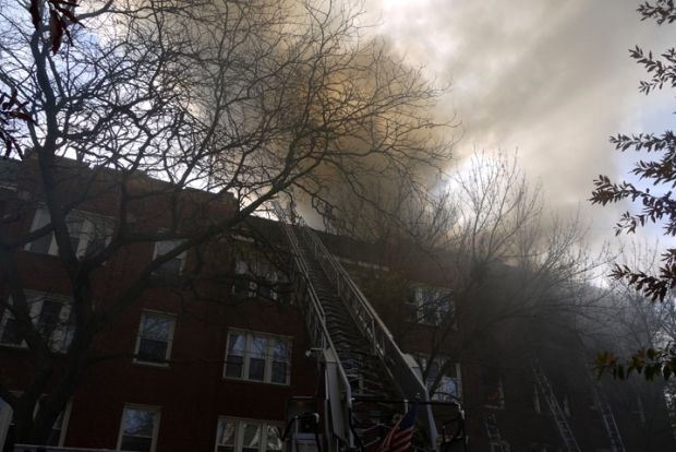 Firefighters Battle Extra-Alarm Blaze in Rogers Park