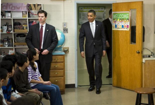 Obama Outlines Education Plan at Elementary School in Virginia
