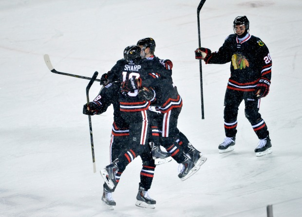 Game Photos: Blackhawks vs. Penguins Stadium Series
