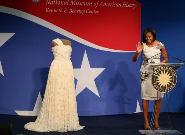 First Lady of Fashion Delivers Inaugural Gown to Smithsonian