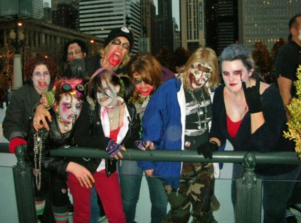 Zombies Take Over Millenium Park