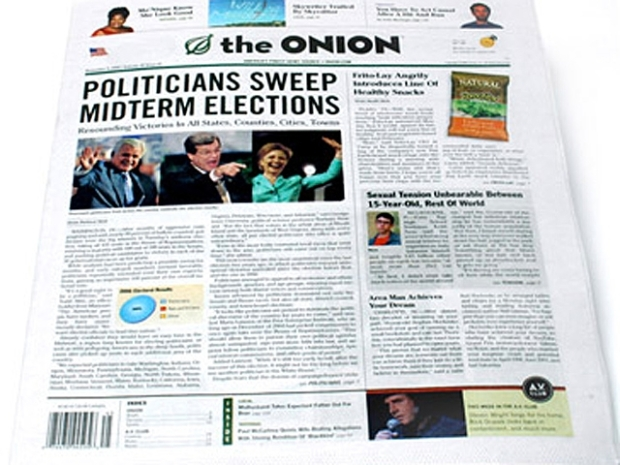 "[FREEL] ""The Onion"" Editor Jokes at National Lampoon Reunion"