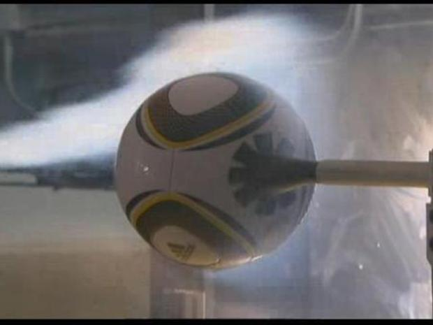 [LA] Soccer Ball Tested in Wind Tunnel