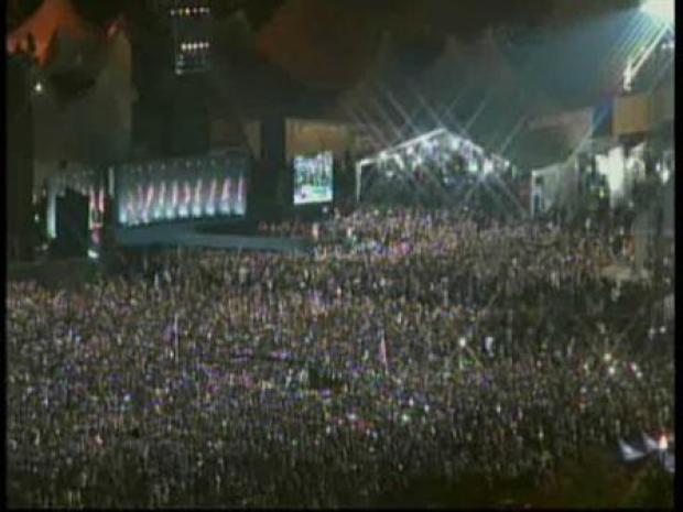 [CHI] Grant Park Crowd Celebrates Historic Election Night