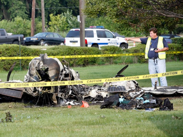 Small Plane Crashes Near Teterboro