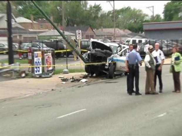 [CHI] BROLL: Cop Injured in Crash at 98th & Halsted
