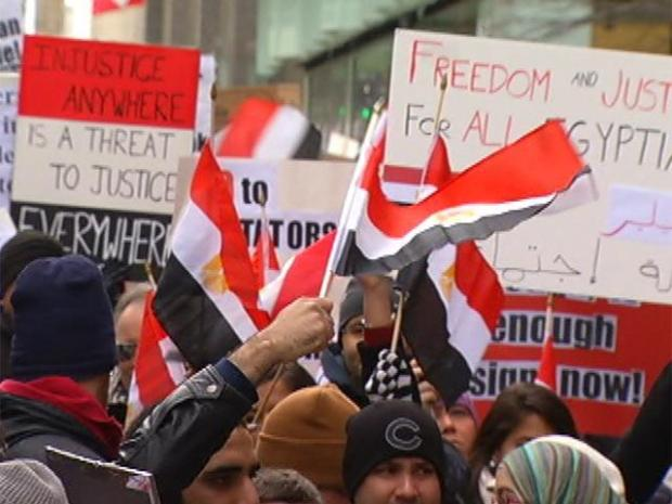 "[CHI] Chicago's Egyptian Protestors: ""It's About Justice"""
