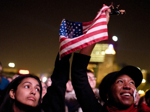 Obama's Election Night Rally in Grant Park