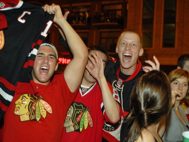 Hawks Fan-demonium Hits the Streets