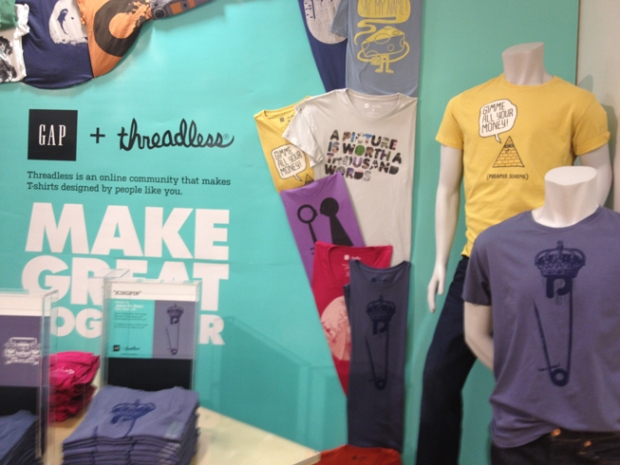 Threadless Launches T-Shirt Line at Chicago Gap
