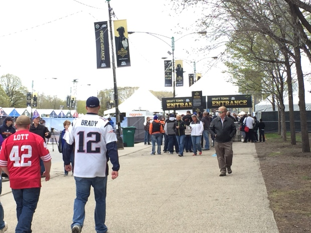 NFL Draft Kicks Off in Grant Park