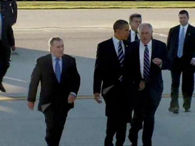 [CHI] President Obama arriving in Chicago