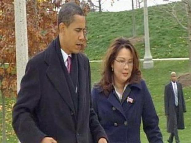 [CHI] Obama, Duckworth Lay Wreath at Soldiers Memorial