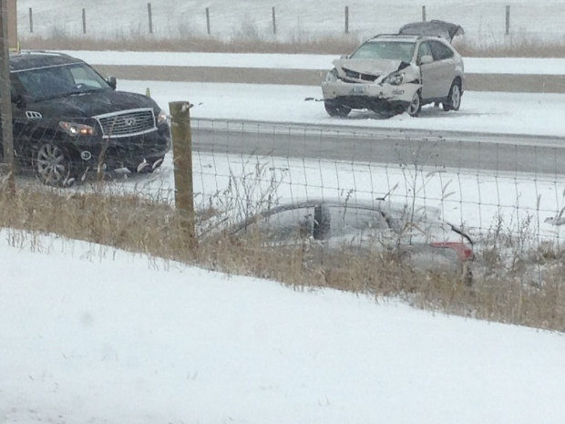 Snow Causes Dozens of Accidents in SE Wis.