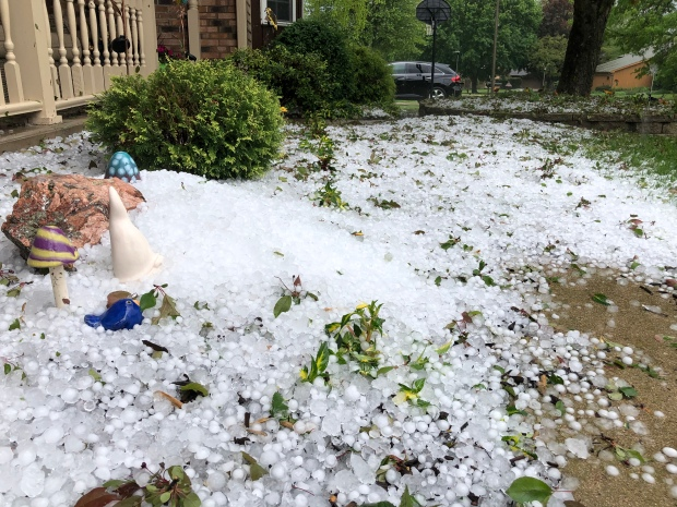 Hail Blankets Chicago Area Like Snow in Memorial Day Storms