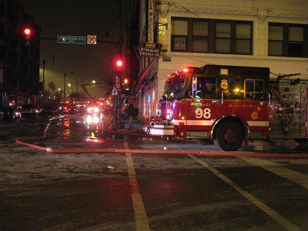 Blaze Engulfs Greektown Restaurant