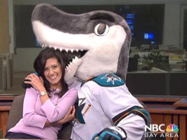 [BAY] Sharkie Pumps Up NBC Bay Area