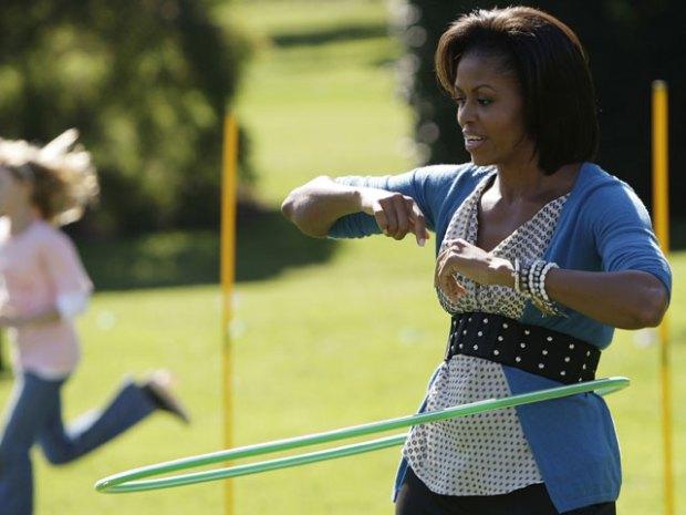 Michelle Obama Hula Hoops