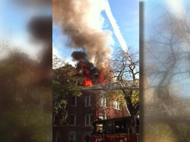 [CHI] Lincoln Square Fire Caught on Tape