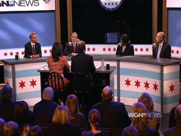 [CHI] Swings Taken, But No Knock-Out Punches at Mayoral Debate