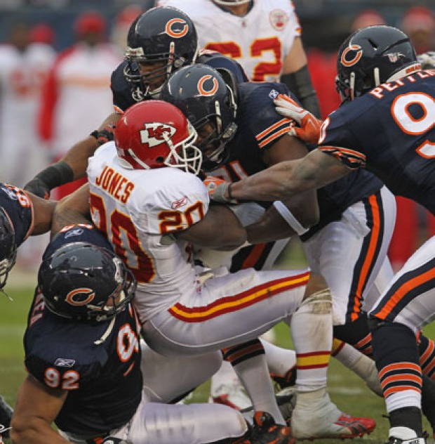 Bears, Chiefs Game Action