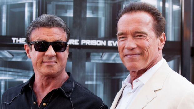 "[NATL] Sylvester Stallone, Arnold Schwarzenegger Talk ""Escape Plan"" at Comic-Con"